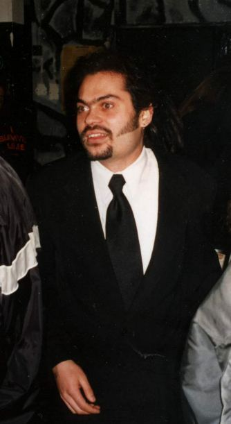 Michèl at the Crimson Glory concert, April 2000 in Offenbach/Germany