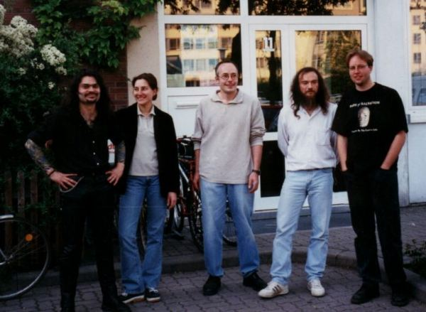 left to right: Michèl, Elisabeth, Martin, Roland, Jörg